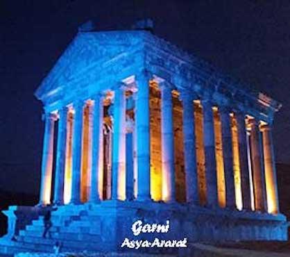 ガルニ神殿、夜景